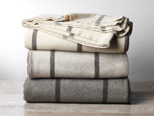 stack of Tahoe Wool Blankets