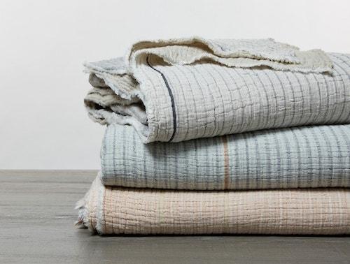 Stacked Topanga Organic Matelasse Blanket